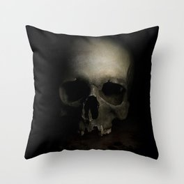 Male skull Throw Pillow