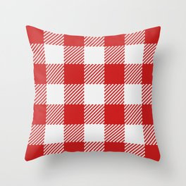 Red Buffalo Check classic large scale Farmhouse Christmas pattern Throw Pillow