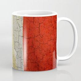 Cracked France flag Coffee Mug