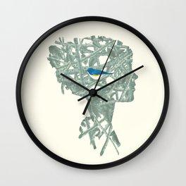 {No title} Blue Bird Wall Clock