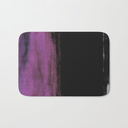 Purple and Black Bath Mat