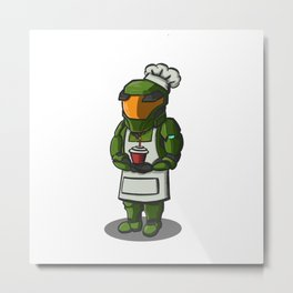 Master Chef Metal Print