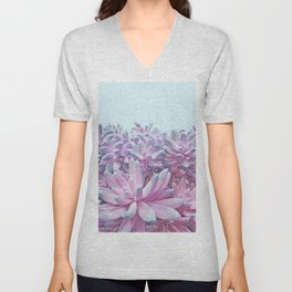 Sweet Succulents Unisex V-Neck