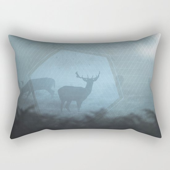 Mystic Deer Rectangular Pillow