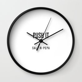 Push it Wall Clock