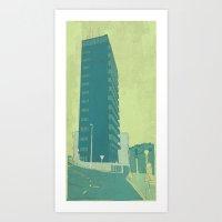 neutral milk hotel Art Prints featuring Hotel by brusoo