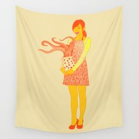 weird Wall Tapestries featuring The Weird Things We Collect by Rendra Sy
