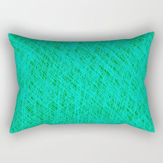 Expressive Blue (Abstract green and cyan) Rectangular Pillow