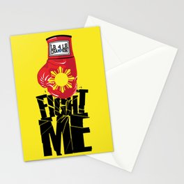 "Manny Pacquiao ""Fight Me"" Stationery Cards"