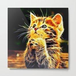 Cat 3d artworks Metal Print