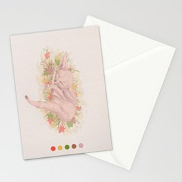 Fox sleeping Stationery Cards