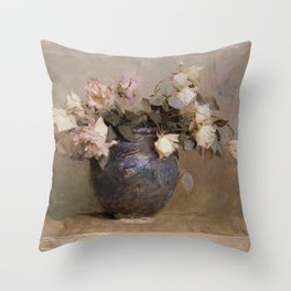 Abbott Handerson Thayer - Roses - Digital Remastered Edition Throw Pillow