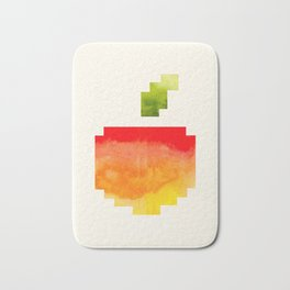 Pixel Watercolor Peach Geometric Fruit Colorful Pink Red Yellow Sunset Colors Bath Mat