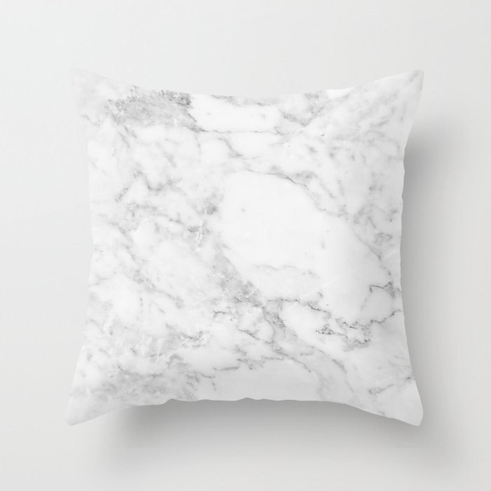 White Marble Edition 2 Throw Pillow By Kaeting Society6