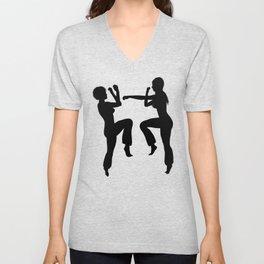 Martial Arts Girls Unisex V-Neck