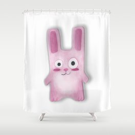 Watercolor Freezer Bunny Shower Curtain