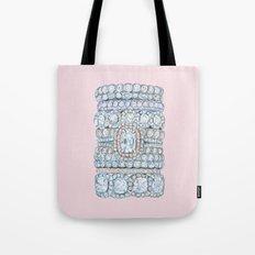 Diemond Rings on Light Pink Tote Bag