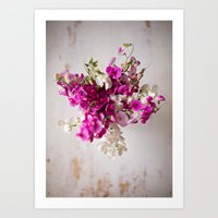 Sweet Pea Star Bouquet Art Print