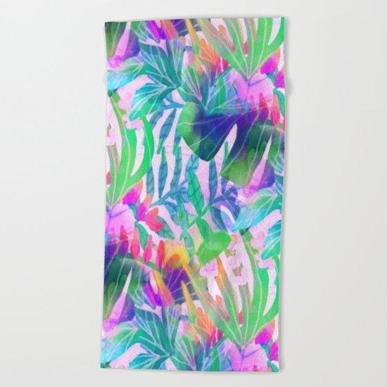 Pink Hawaiian  Beach Towel