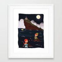 peter pan Framed Art Prints featuring Peter Pan by Orelly