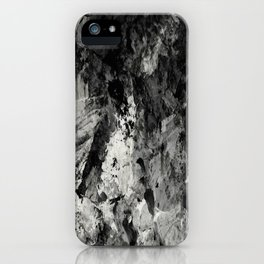 Impossibility - Textured, black and white abstract iPhone Case