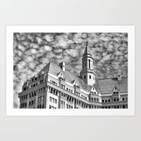 Long Beach Sky Art Print