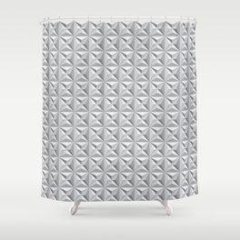Geotex Grey Shower Curtain