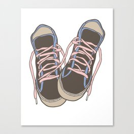 Trainers or Sneakers Illustration Canvas Print