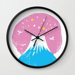 "Symbol of happiness ""Mount Fuji"" Japan Wall Clock"
