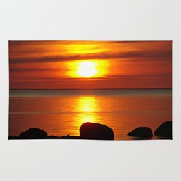 Hazy Seaside Sunset Rug