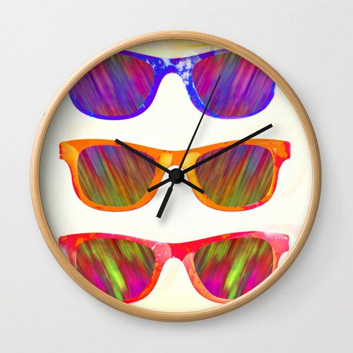 Sunglasses In Paradise Wall Clock