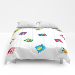 Fruit: Lemon & Persimmon Comforters