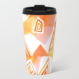 Geo Triangle Orange Travel Mug