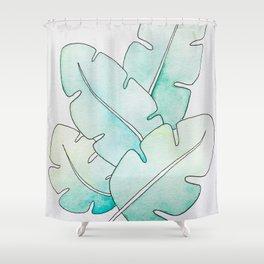 Tropical Watercolors Shower Curtain