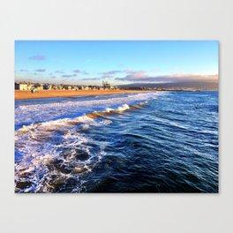 "Hermosa Beach ""On the Pier 2"" Canvas Print"