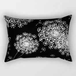 DANDELION SNOWFLAKE BLACK Rectangular Pillow