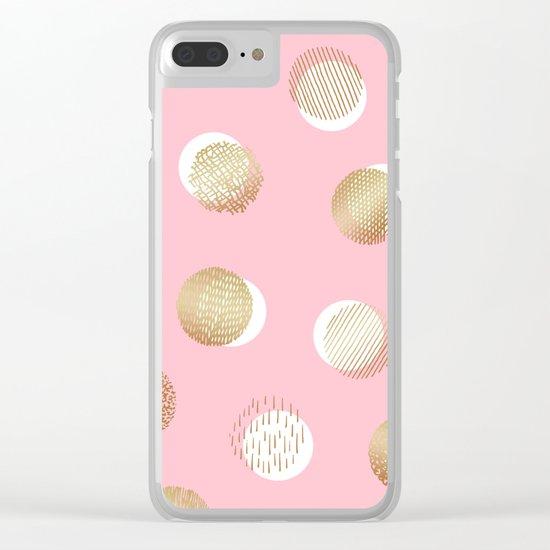 foil texture pattern print Clear iPhone Case