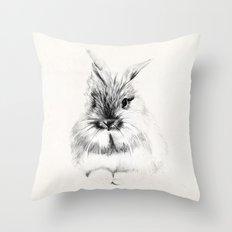 Little rabbit Throw Pillow