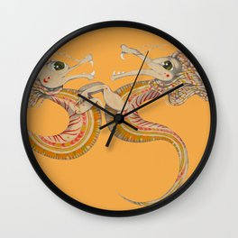Two dragons Wall Clock
