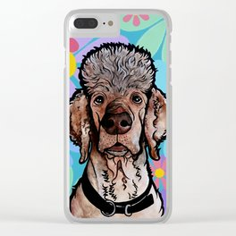 Parti Poodle Clear iPhone Case