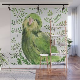 Kakapo in the ferns Wall Mural