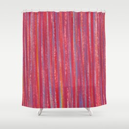 Stripes  - Candy pink red orange and blue Shower Curtain