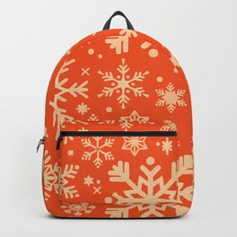 Snowflake Collection – Coral & Cream Backpack