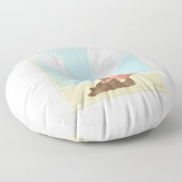 All Dogs Go to Heaven (Golden Retriever) Floor Pillow