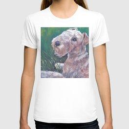 Lakeland Terrier dog art portrait from an original painting by L.A.Shepard T-shirt