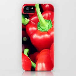 Red Peppers iPhone Case