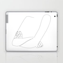 X-Arms - one line woman's crossed arms art Laptop & iPad Skin