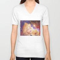 sleep V-neck T-shirts featuring Sleep by DanielleD