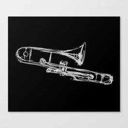 Piston Valve Trombone Canvas Print