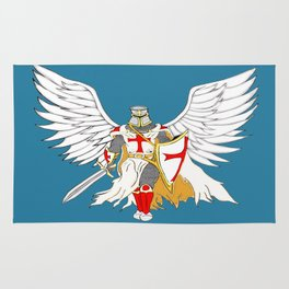 Knights Templar Angel  Rug